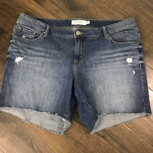 Torrid Distressed Frayed Cuff Jean Shorts Size 22